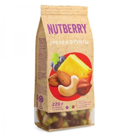 Смесь орехов и сухофруктов Nutberry 220гр.
