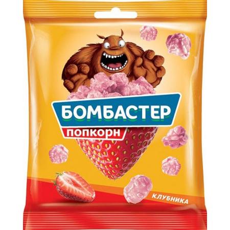 Попкорн  Бомбастер  со вкусом клубники 50гр.