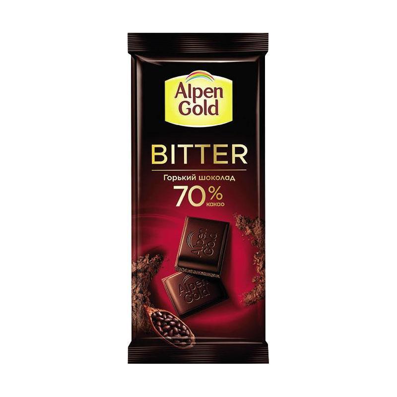 Шоколад  Альпен Гольд  горький 80гр.