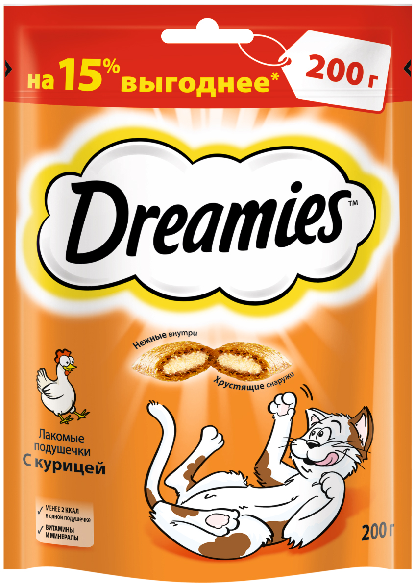 Лакомства Dreamies с курицей 200гр.