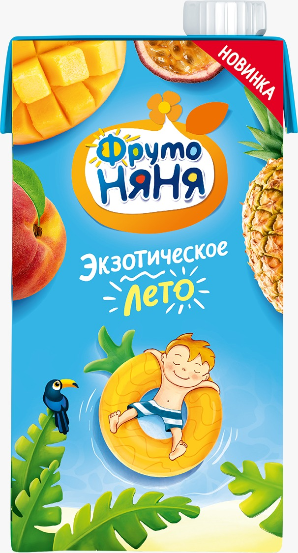 Нектар из смеси фруктор с манго Фрутоняня 0