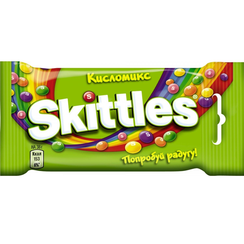 Жевательные конфеты Скиттлс кисломикс 70гр.