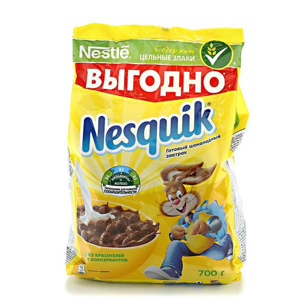 Сухой завтрак Несквик шоколадные шарики м/у 700 гр