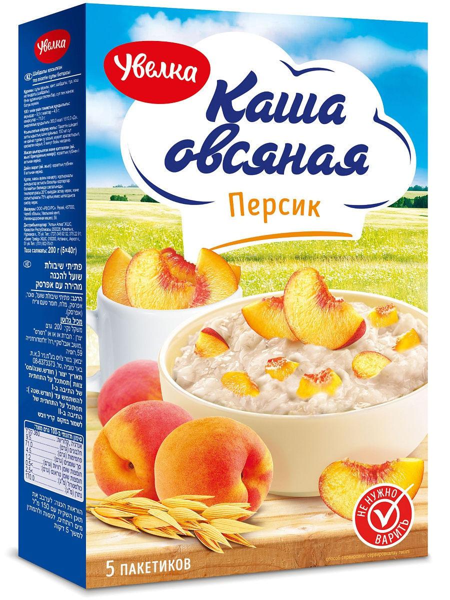 Каша овсяная Увелка персик 5шт*40гр