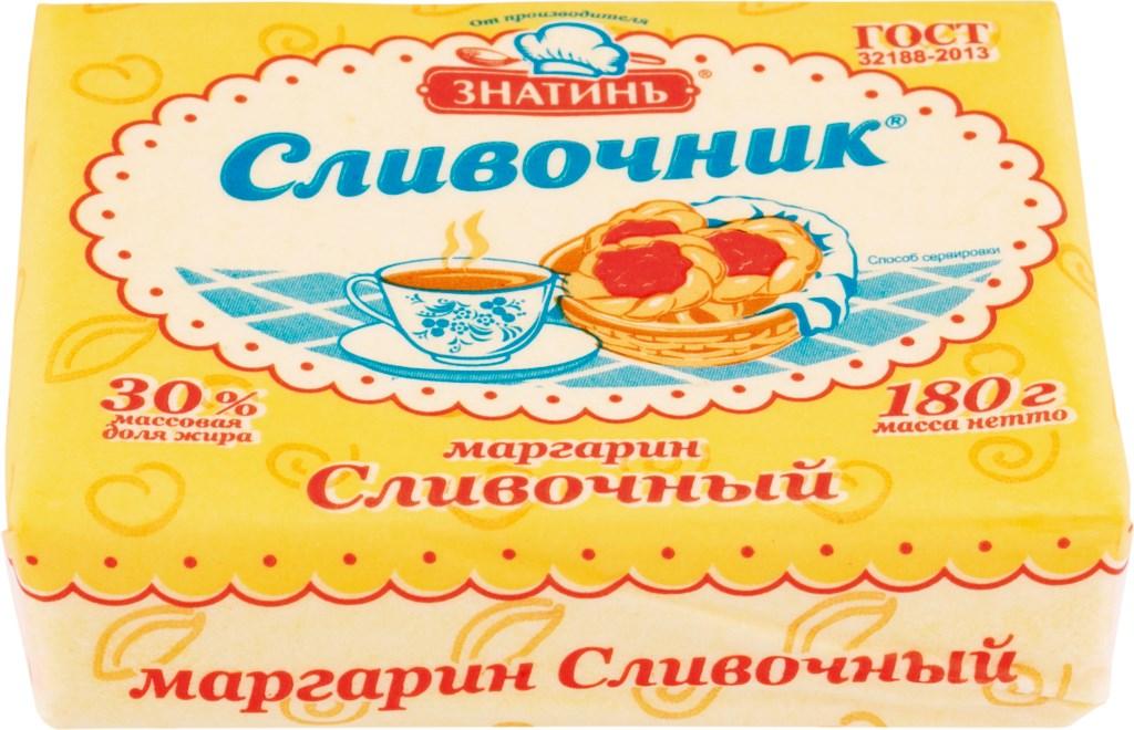Маргарин Сливочник сливочный 30% 180гр.