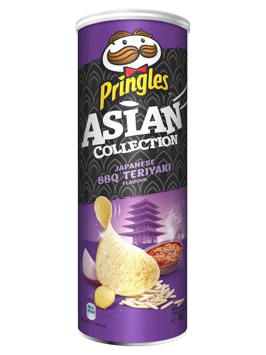 Рисовые чипсы Pringles со вкусом соуса барбекю терияки по-японски 160 гр.