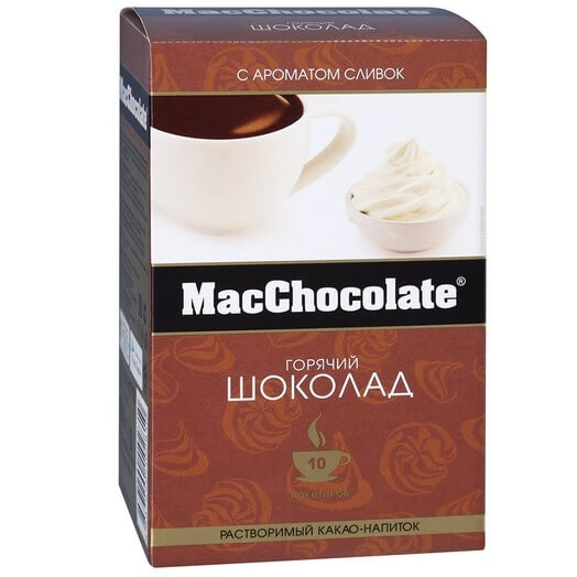 Какао-напиток растворимый  MacChocolate  сливочный 20гр*10шт.