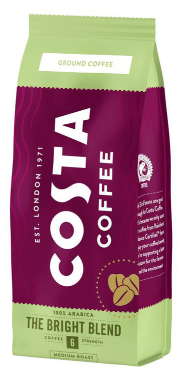 Кофе Costa Coffee Bright Blend молотый 200 гр