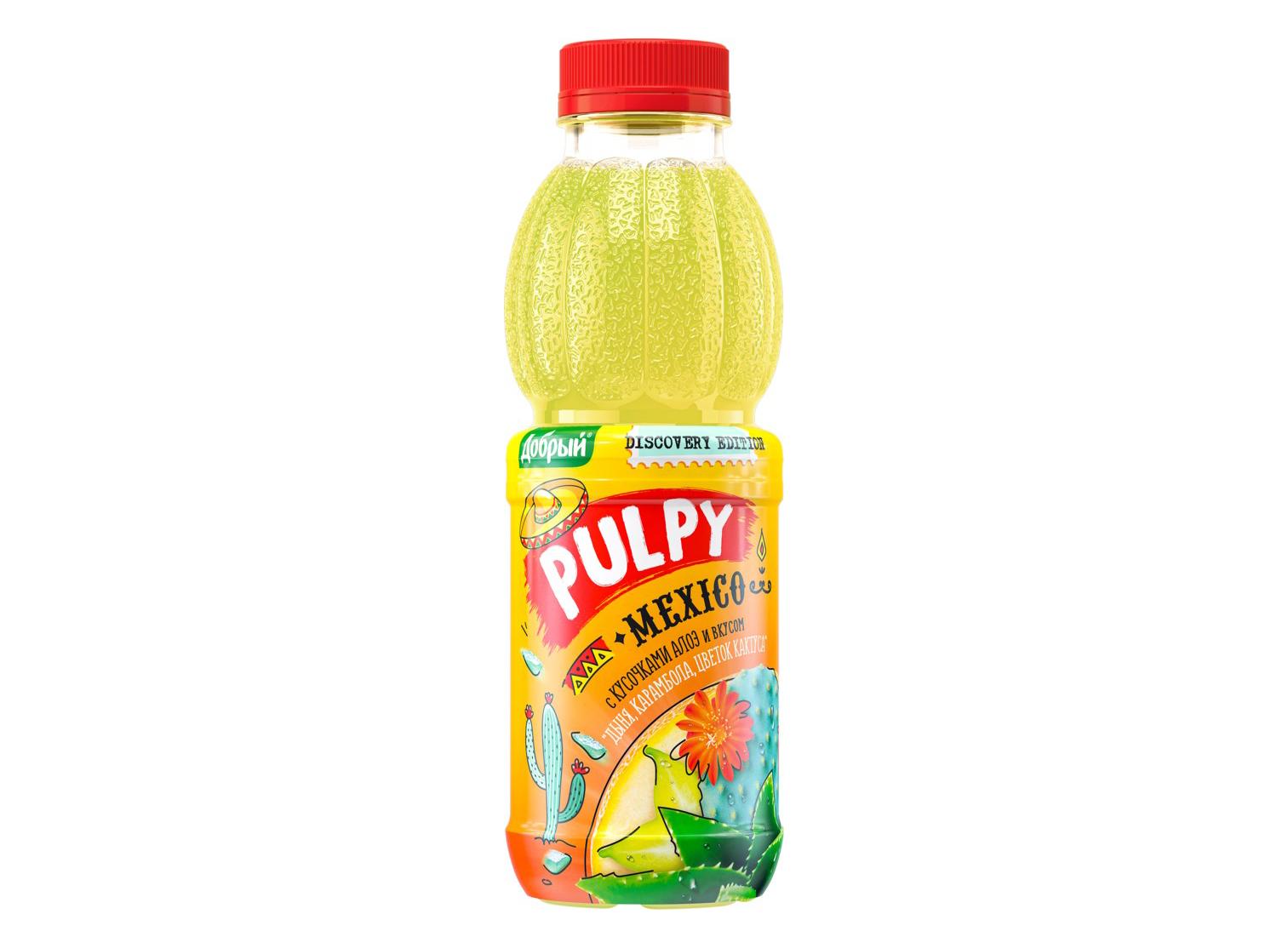 "Добрый Pulpy ""Mexico"" со вкусом «Дыни"