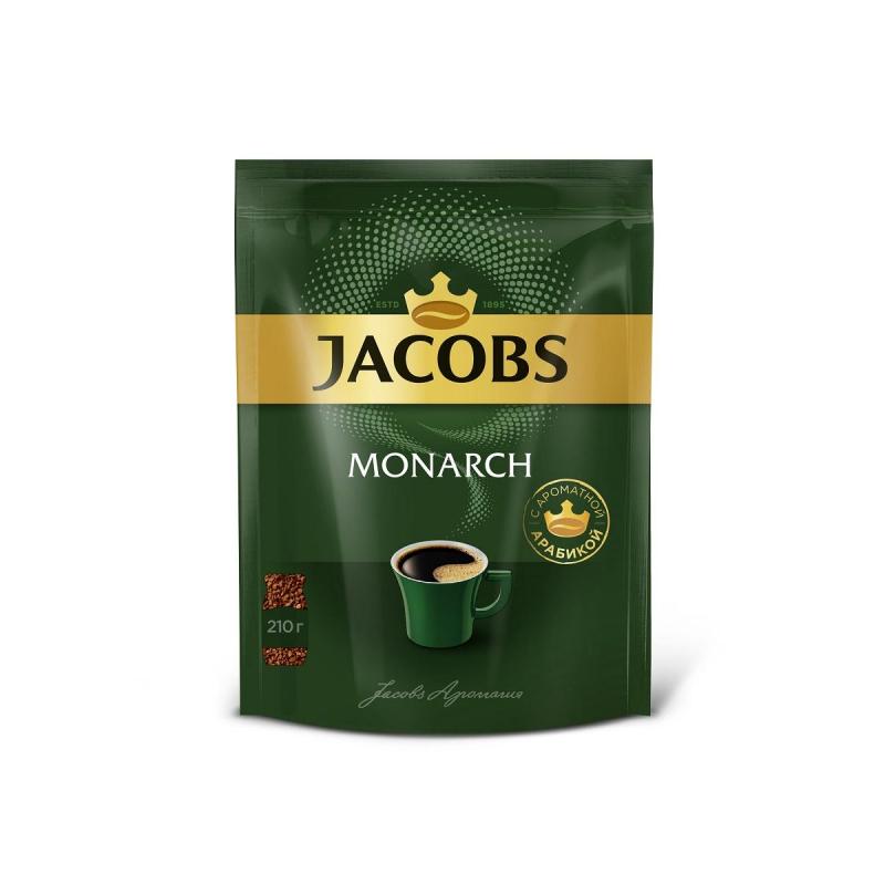 Кофе Jacobs Monarch натуральный растворимый сублимированный 210гр
