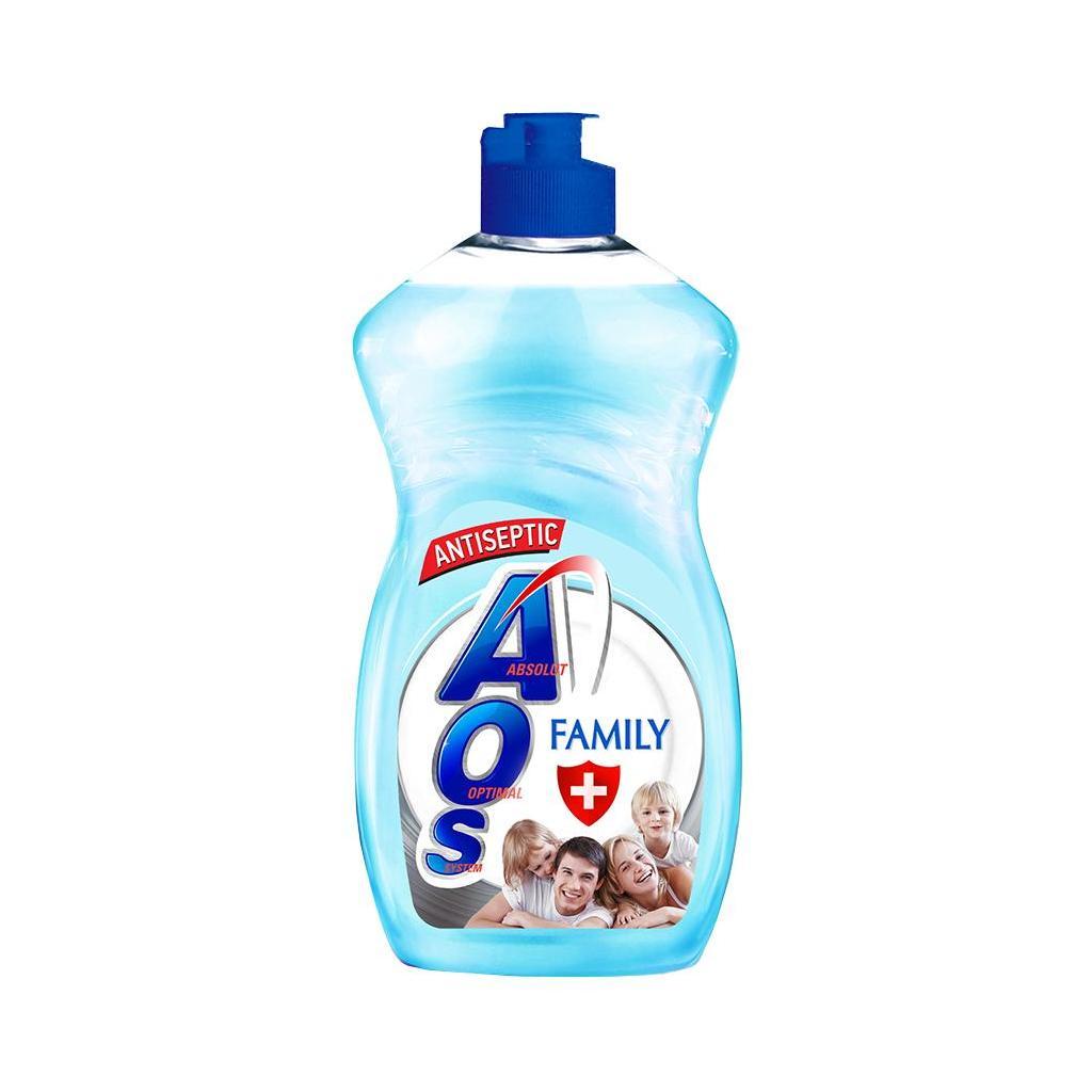 Жидкое моющее средство AOS Family 0+ 450мл.