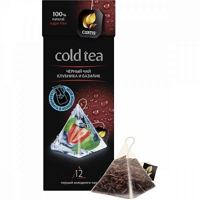 Чай черный Curtis COLD TEA Клубника и базилик с добавками