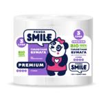Туалетная бумага Smile Панда 3слоя
