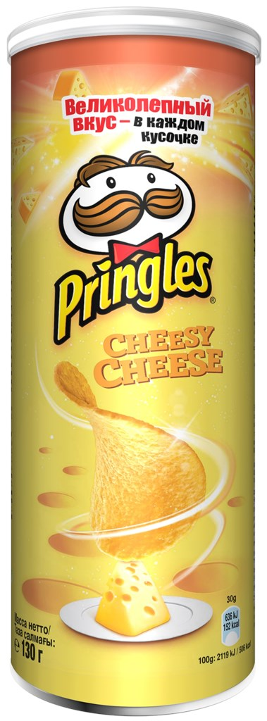 Чипсы Принглс со вкусом сыра 130гр туба