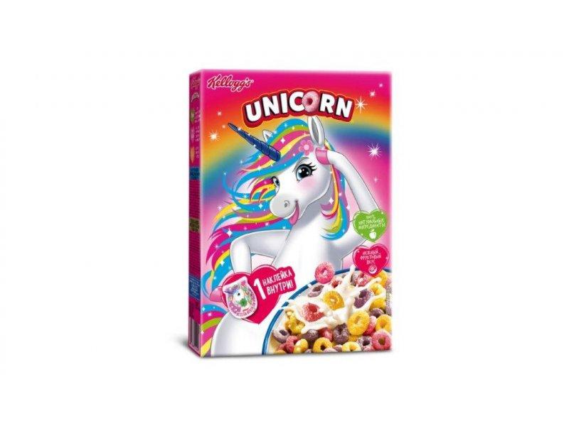 Готовый завтрак Unicorn Радужные колечки с фруктовым вкусом 195гр.