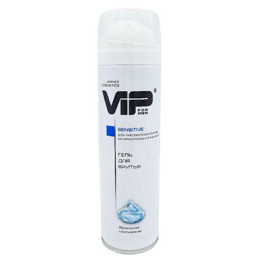 Гель  для бритья мужской  Vip Sensitiveдля чувствительной кожи 200 мл.