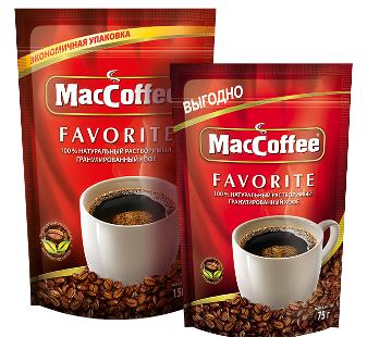 Кофе растворимый гранулированный  MacCoffee Favorite  75гр.