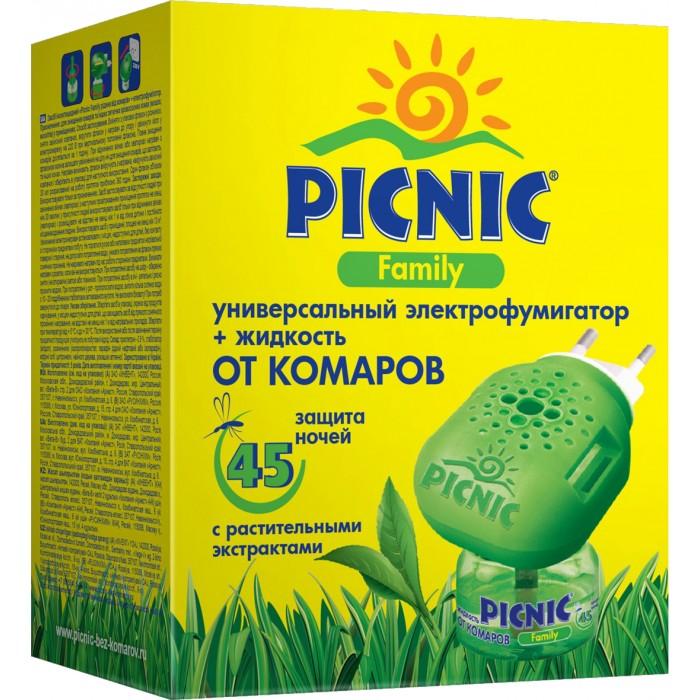 Picnic Family Электрофумигатор + 30 мл жидкость от комаров 45 ночей.