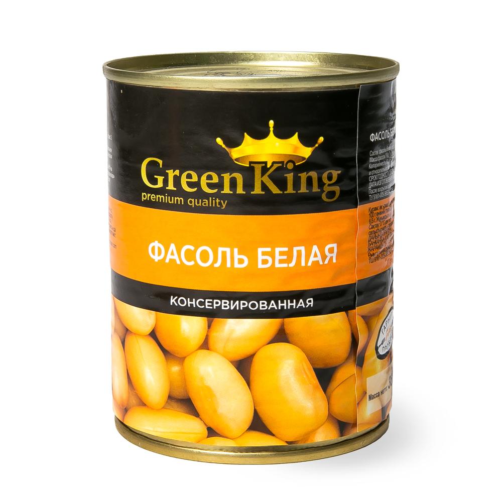 Фасоль белая в собственном соку Green King 360гр (ключ)