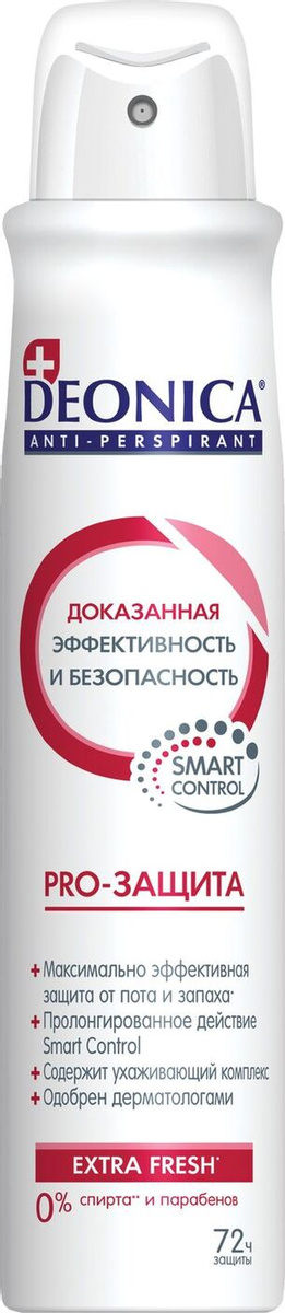 Женский дезодорант антиперспирант Deonica PRO-Защита Спрей 200 мл.