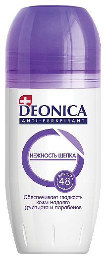 Дезодорант женский антиперспирант Deonica Нежность шелка 50 мл.
