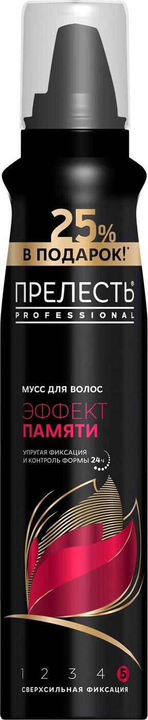 Прелесть Professional Мусс для укладки волос Эффект памяти