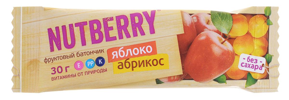 Nutberry Витафрут батончик фруктовый с яблоком и абрикосом 30гр.