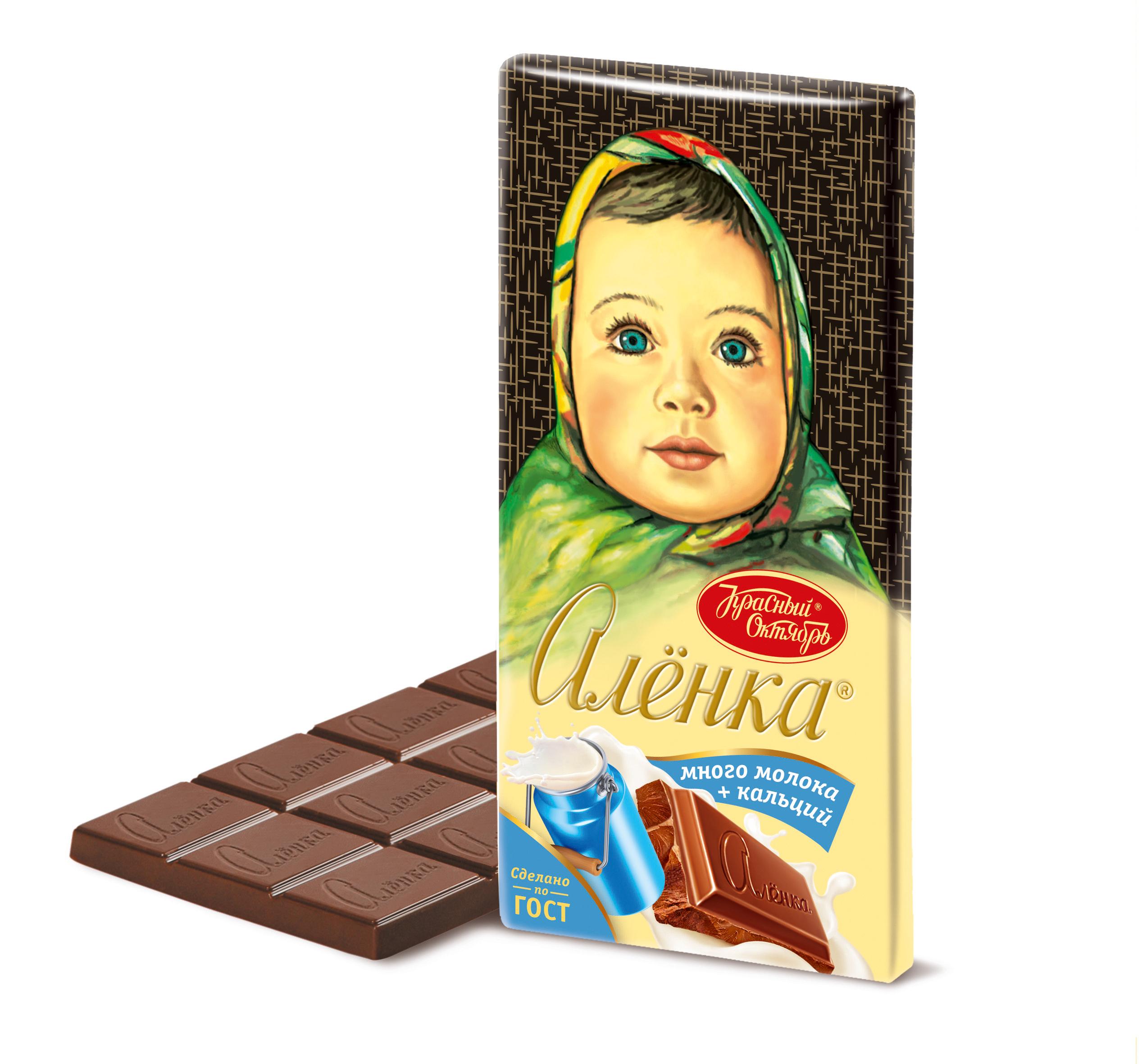 Шоколад Аленка много молока 90гр.
