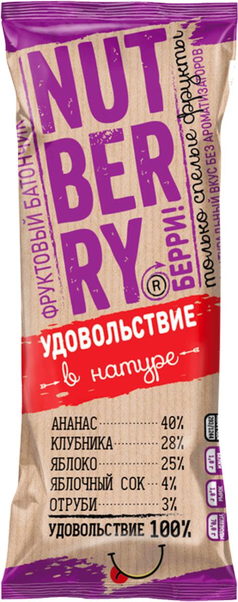 Nutberry Фруктовый батончик ананас клубника 30 гр
