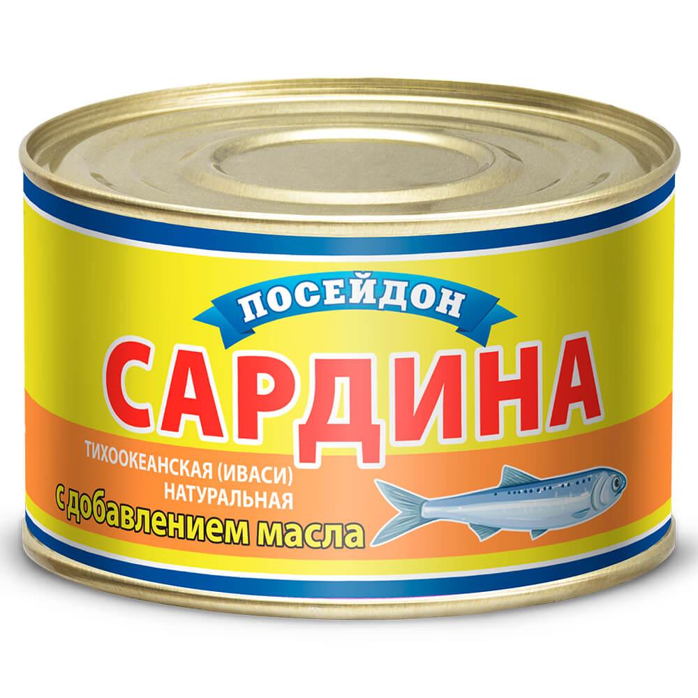 САРДИНА ИВАСИ НДМ 230Г ПОСЕЙДОН