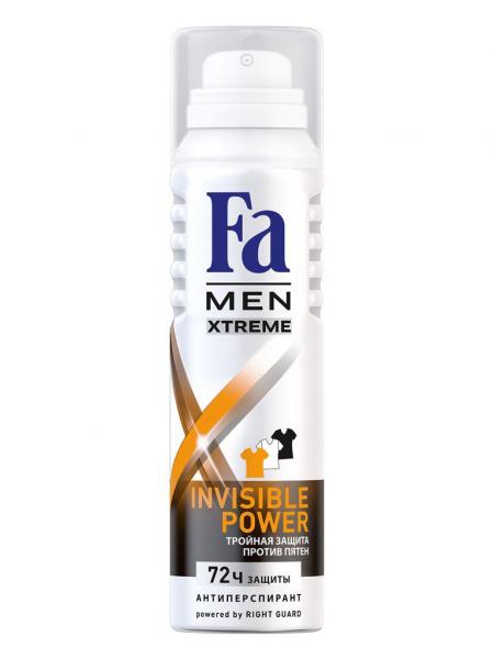 Мужской антиперспирант-аэрозоль Fa men  Invisible power с освежающим ароматом 150мл
