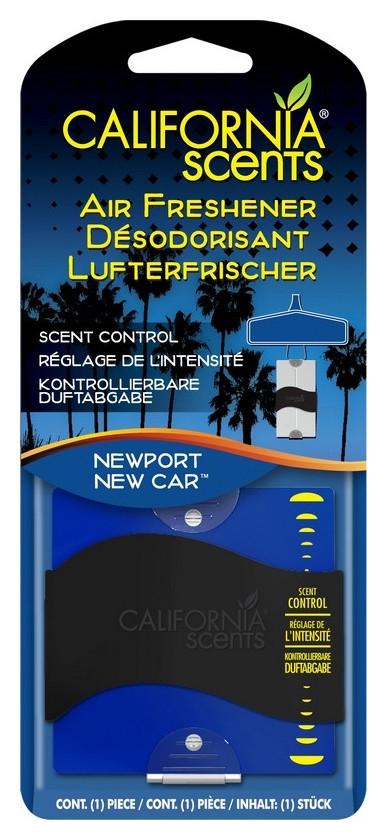 Ароматизатор для авто California scents  картон подвесной - новая машина Ньюпорт 1шт.
