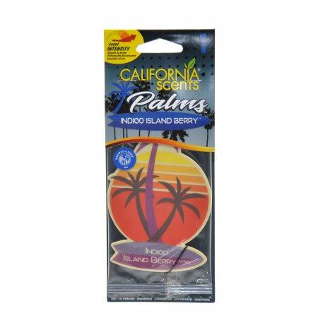 Ароматизатор California scents для авто ягоды с острова индиго 1шт.
