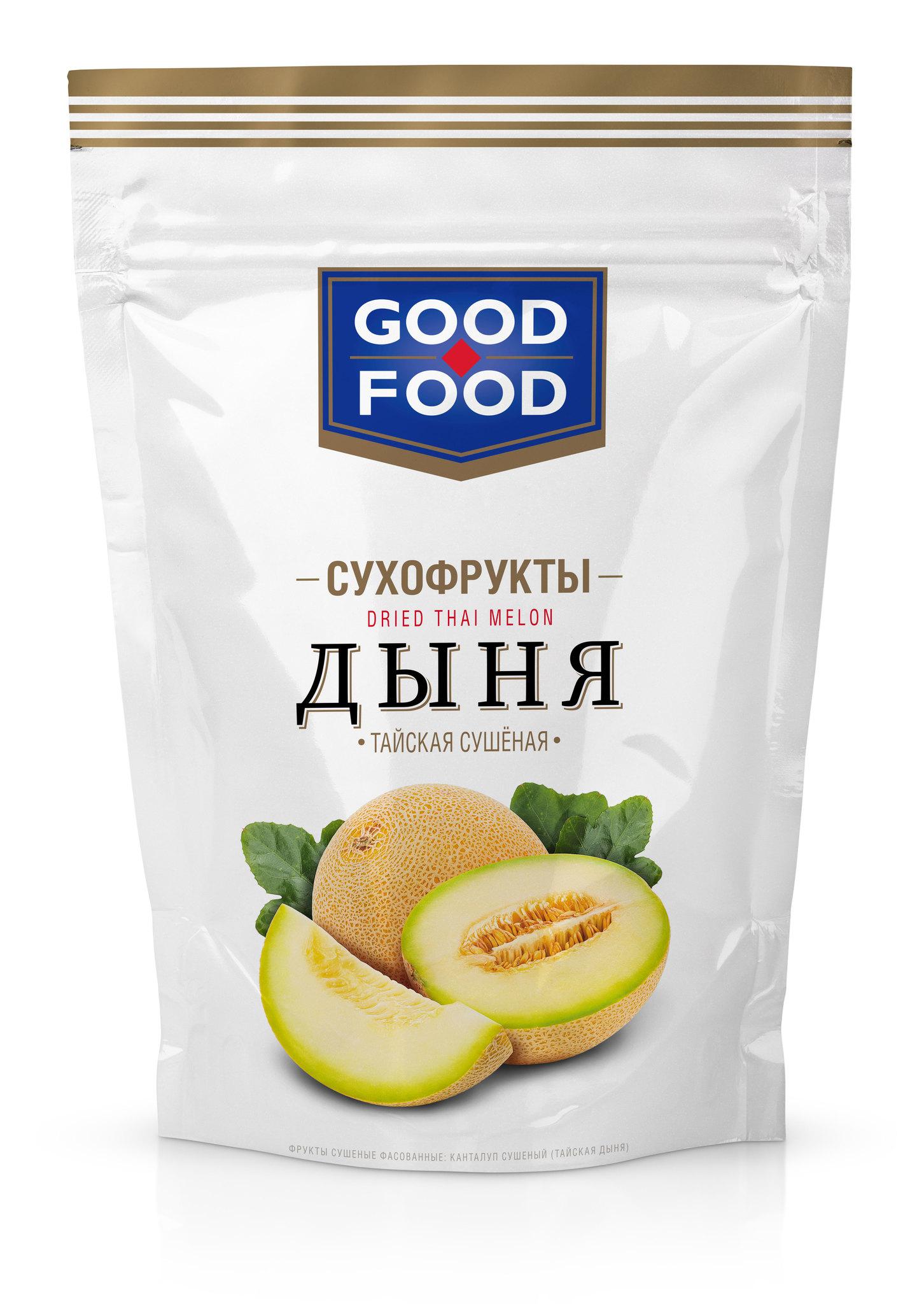 СУХОФРУКТЫ GOOD FOOD ДЫНЯ ТАЙСКАЯ 110ГР