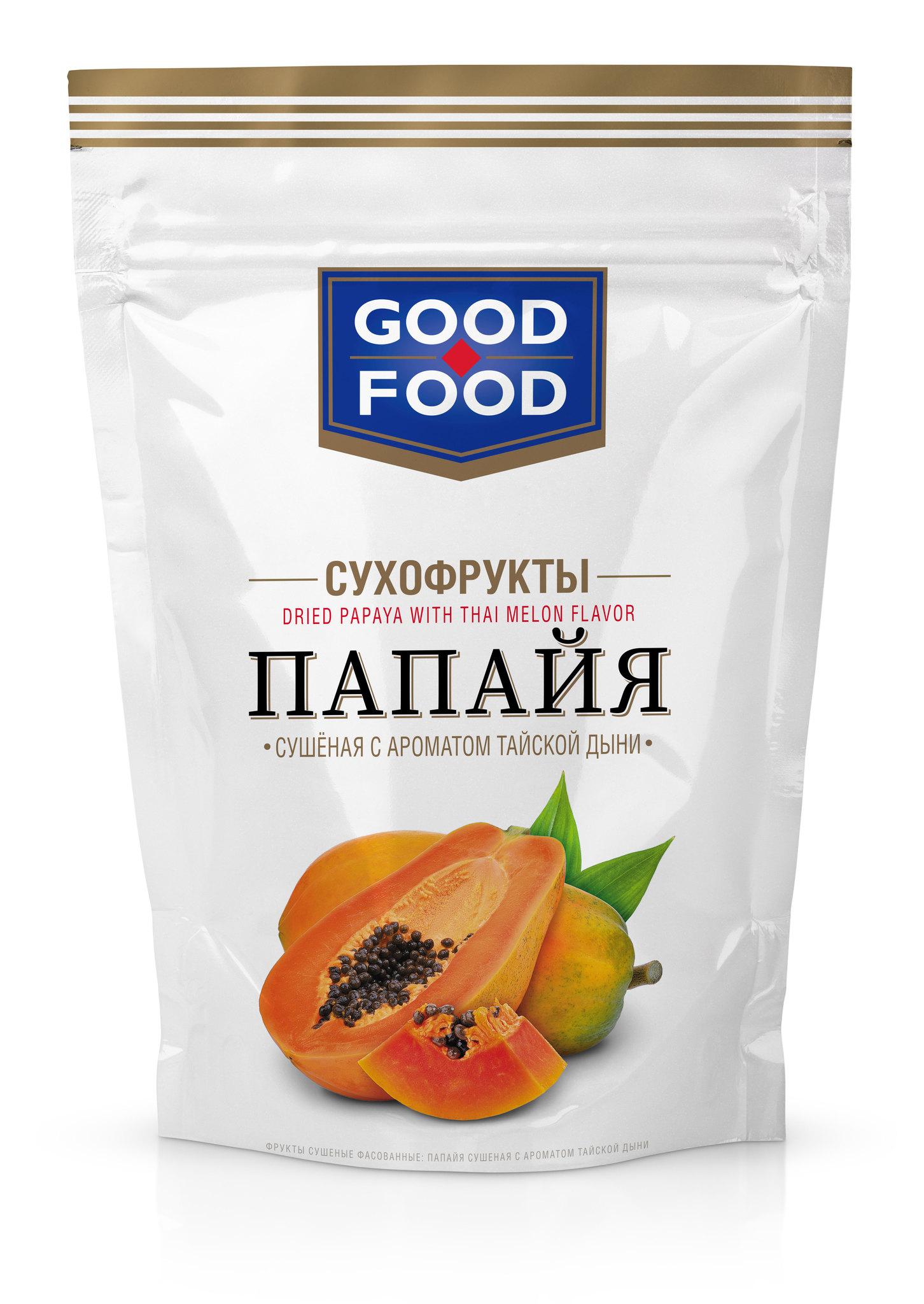 СУХОФРУКТЫ GOOD FOOD ПАПАЙЯ С ДЫНЕЙ 110ГР