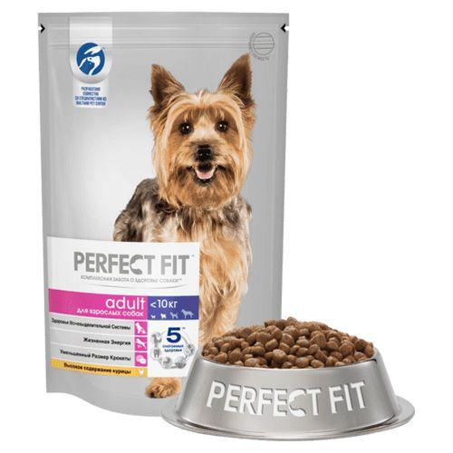 Корм для собак Perfect Fit взрослых собак мелких пород с курицей 1.2кг