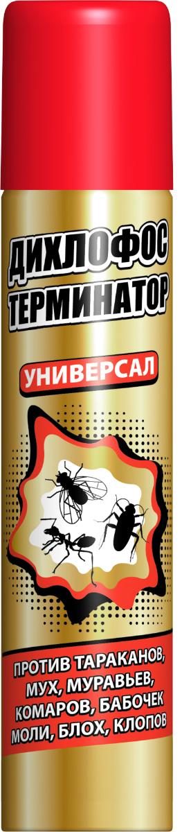Аэрозоль от летающих и ползающих насекомых Дихлофос Терминатор