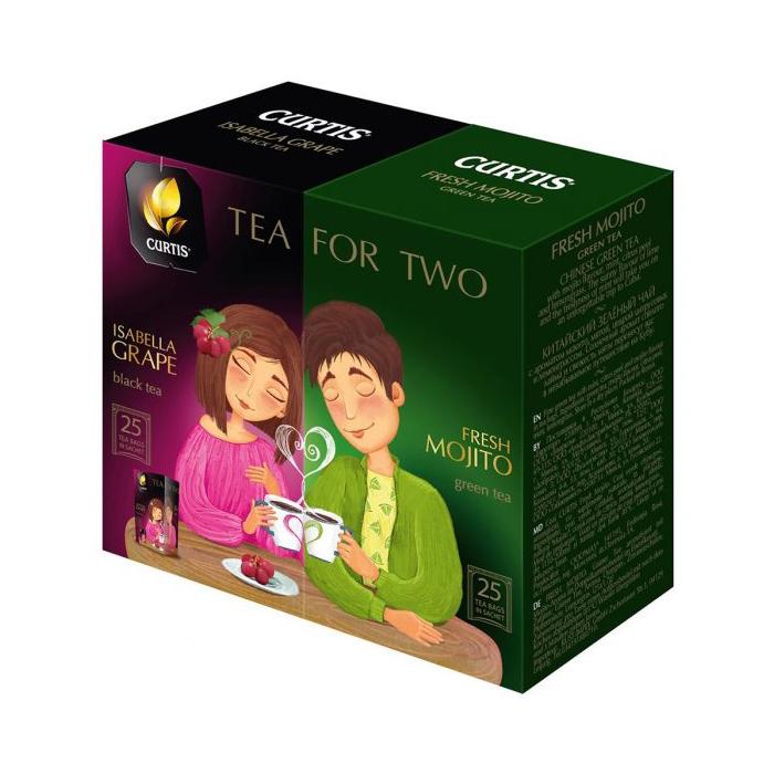 ЧАЙ CURTIS TEA FOR TWO (ДЛЯ ДВОИХ) АССОРТИ 1